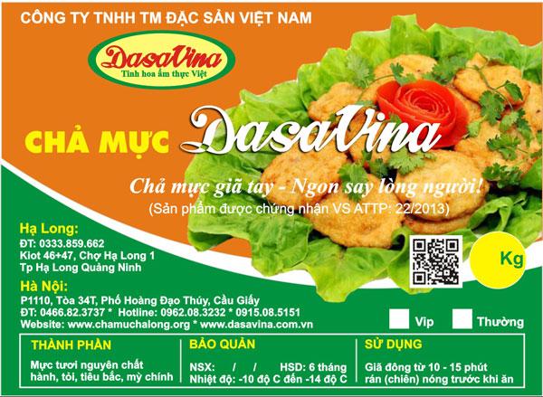 """Chả mực Hạ Long thương hiệu DASAVINA đạt giải vàng Cuộc thi """"Món ngon – Tinh hoa ẩm thực Việt"""