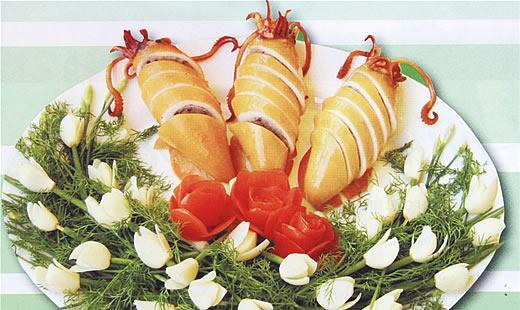 Hương vị đặc biệt mực nhồi tempura