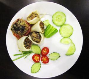 Mực hấp nấm Linh Chi  - món ăn ngon cho cả gia đình