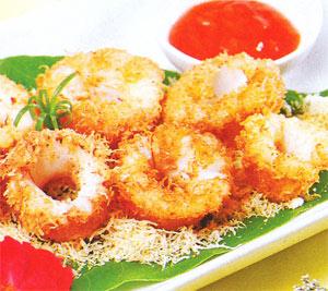 Mực chiên dừa thơm ngon giòn rụm