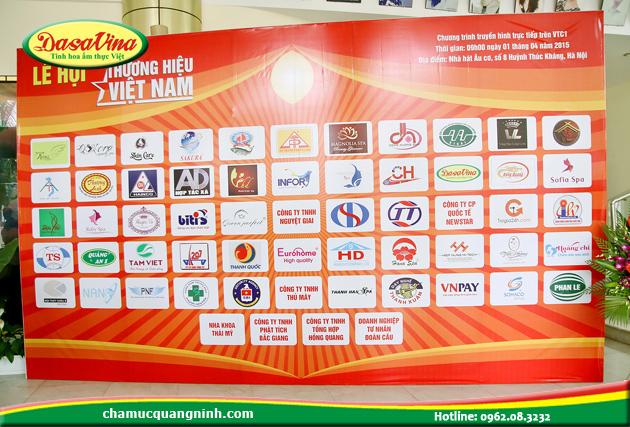 Các thương hiệu uy tín được vinh danh năm 2015